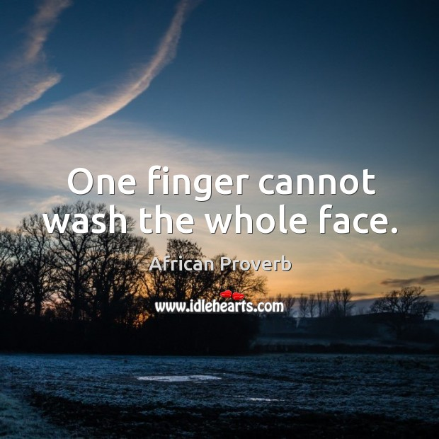 Image, One finger cannot wash the whole face.