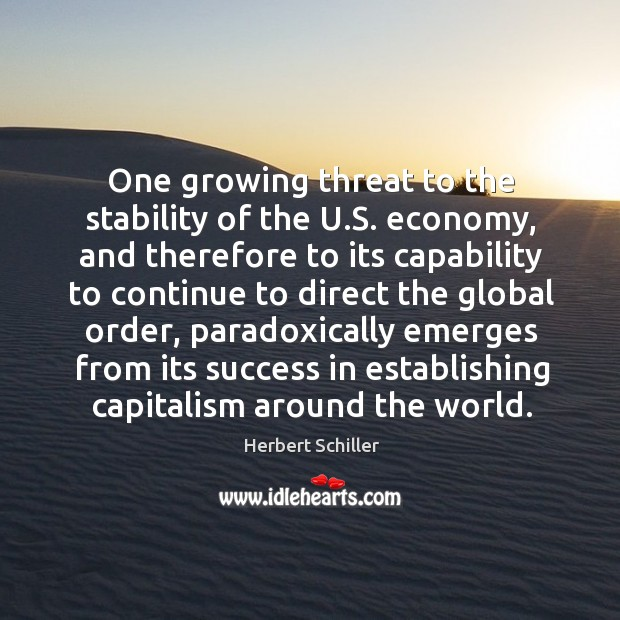 One growing threat to the stability of the U.S. economy, and Image