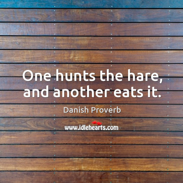 Image, One hunts the hare, and another eats it.