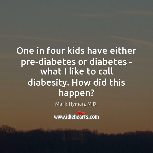 One in four kids have either pre-diabetes or diabetes – what I Image