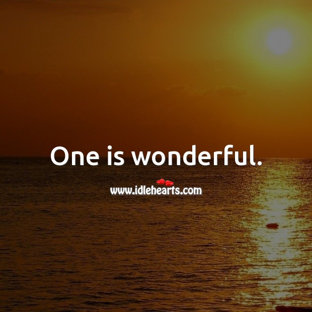 One is wonderful. 1st Birthday Messages Image