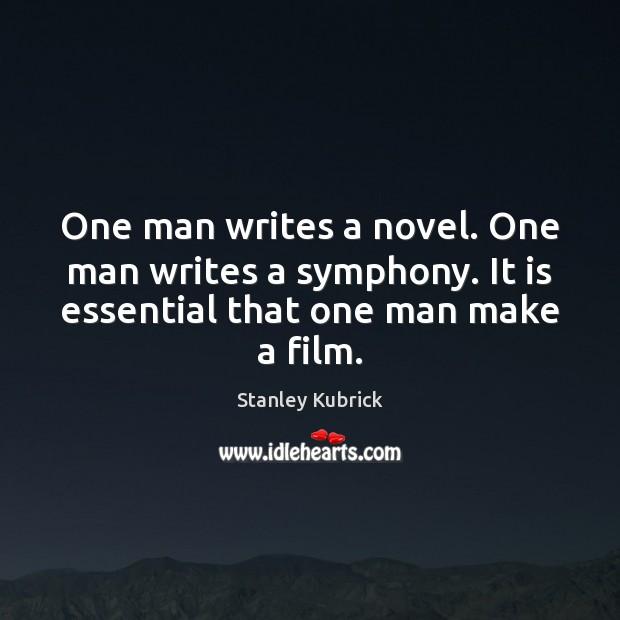 One man writes a novel. One man writes a symphony. It is Image