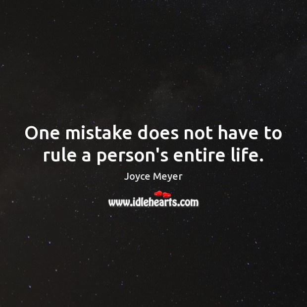 Image, One mistake does not have to rule a person's entire life.