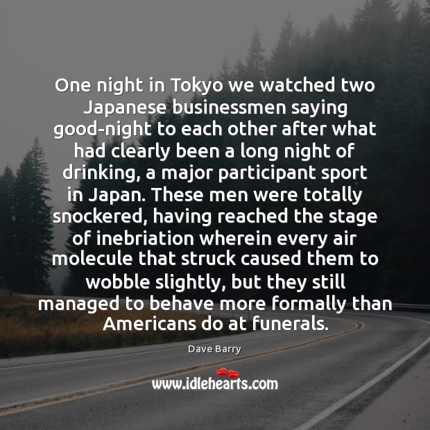 Image, One night in Tokyo we watched two Japanese businessmen saying good-night to