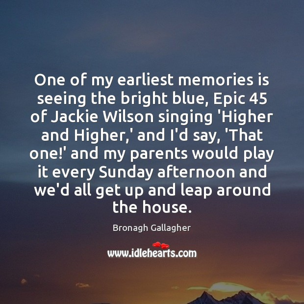 Image, One of my earliest memories is seeing the bright blue, Epic 45 of