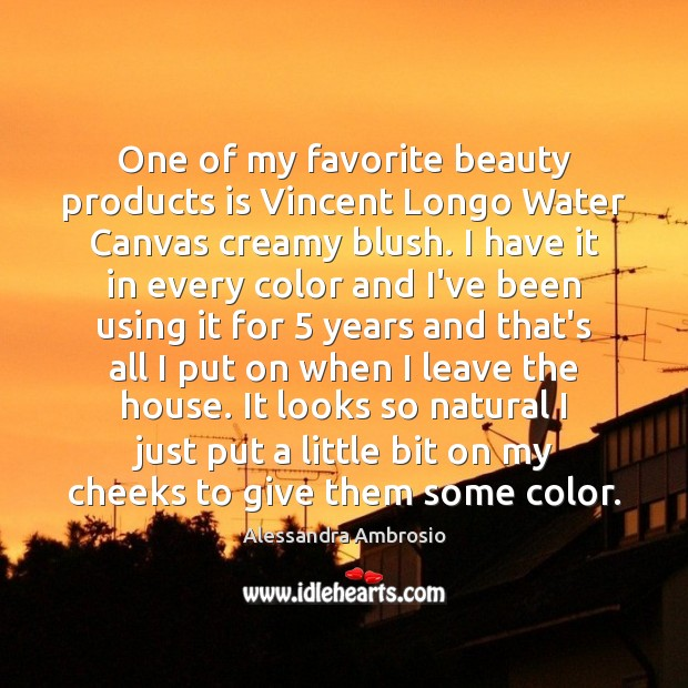 Image, One of my favorite beauty products is Vincent Longo Water Canvas creamy