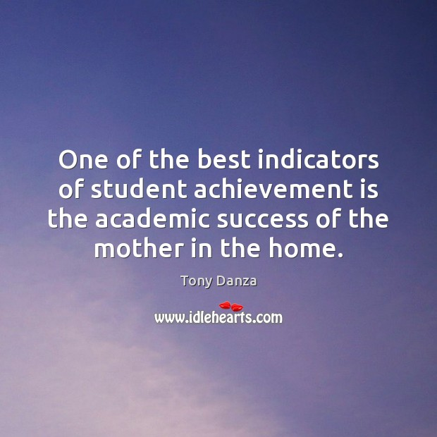 Image, One of the best indicators of student achievement is the academic success