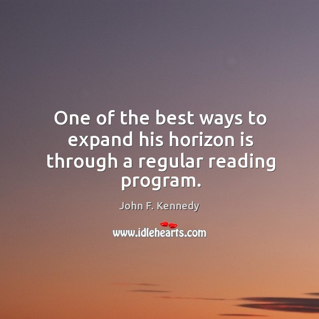 Image, One of the best ways to expand his horizon is through a regular reading program.