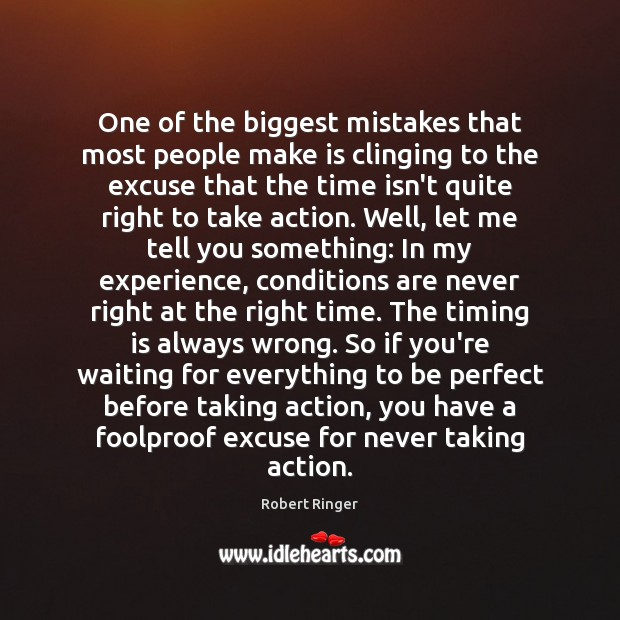 Image, One of the biggest mistakes that most people make is clinging to