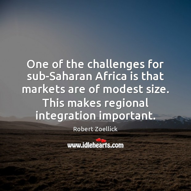 Image, One of the challenges for sub-Saharan Africa is that markets are of