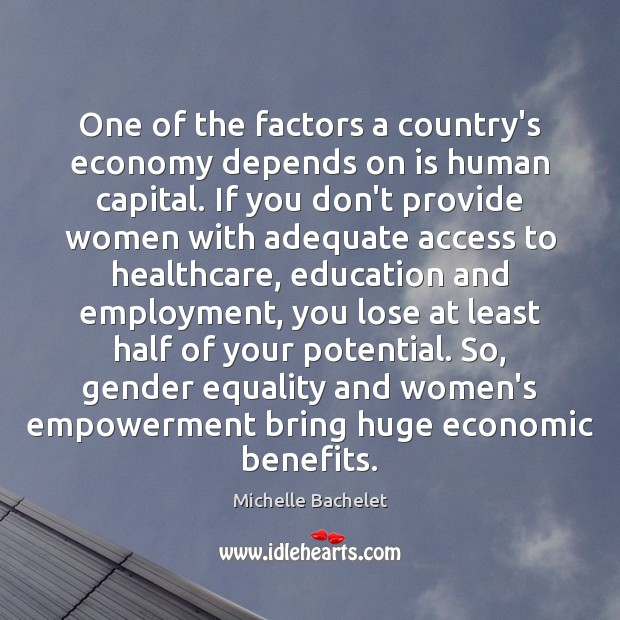 One of the factors a country's economy depends on is human capital. Image