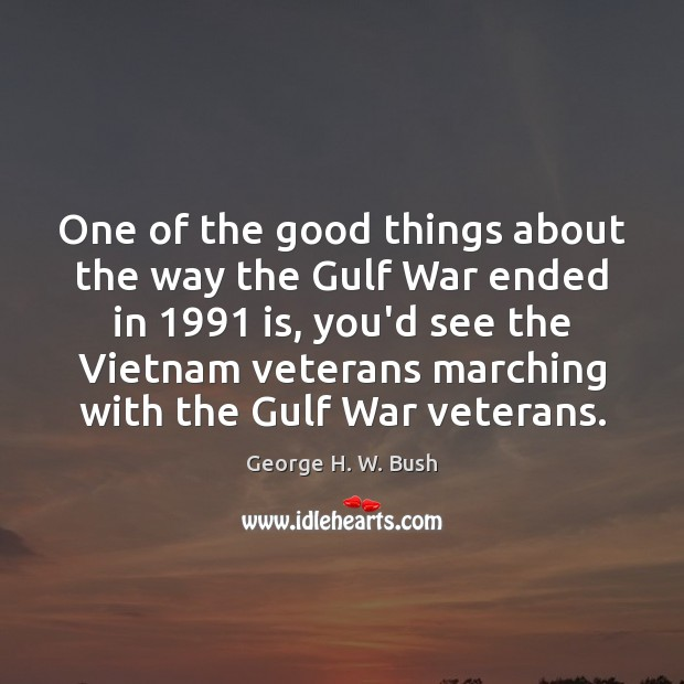 One of the good things about the way the Gulf War ended Image