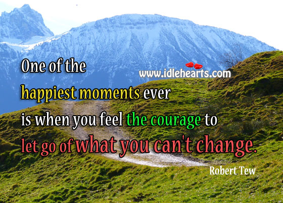Let go of what you can't change Image
