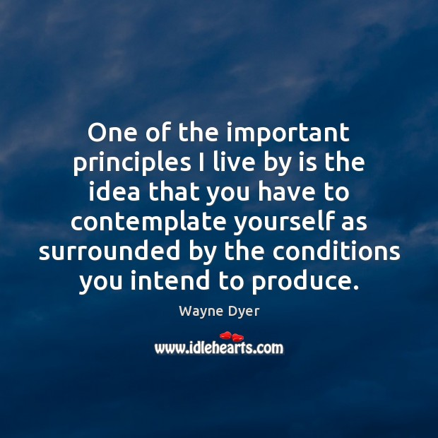 Image, One of the important principles I live by is the idea that