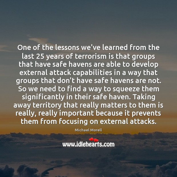 One of the lessons we've learned from the last 25 years of terrorism Image