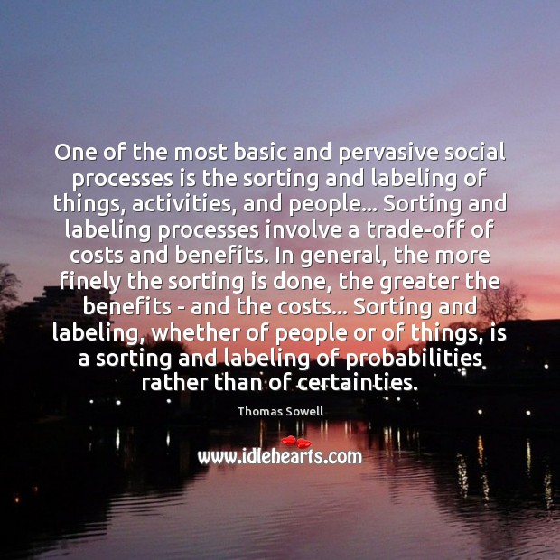One of the most basic and pervasive social processes is the sorting Image