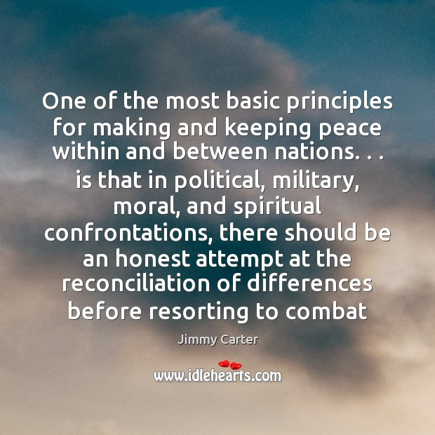 One of the most basic principles for making and keeping peace within Image