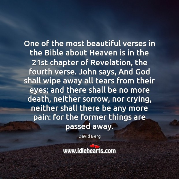 Image, One of the most beautiful verses in the Bible about Heaven is