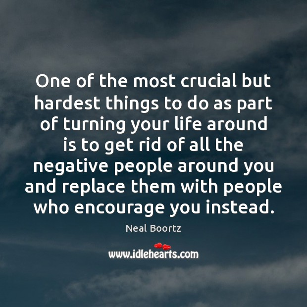One of the most crucial but hardest things to do as part Neal Boortz Picture Quote