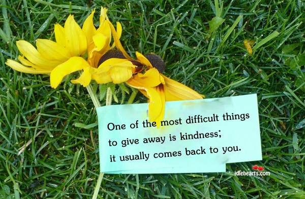 One Of The Most Difficult Things To Give Away…