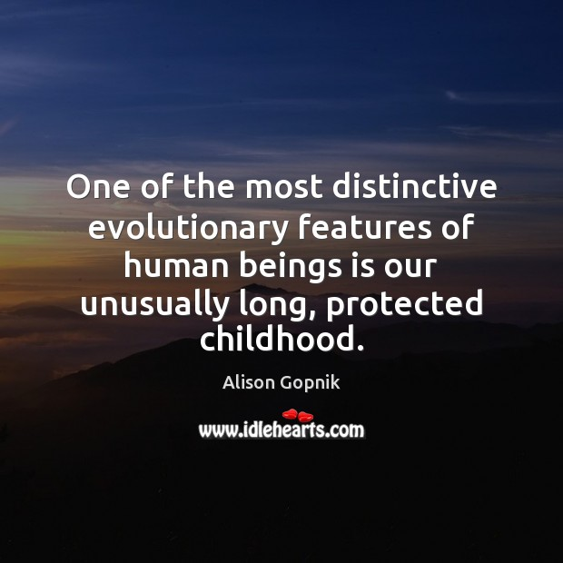Image, One of the most distinctive evolutionary features of human beings is our