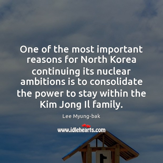 Image, One of the most important reasons for North Korea continuing its nuclear