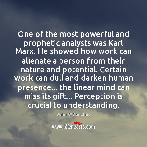 One of the most powerful and prophetic analysts was Karl Marx. He Perception Quotes Image