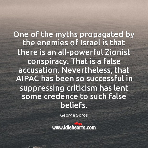 Image, One of the myths propagated by the enemies of Israel is that