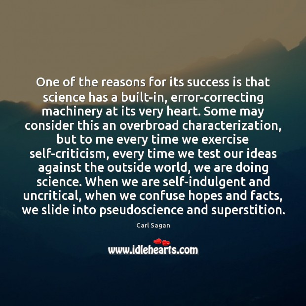 Image, One of the reasons for its success is that science has a