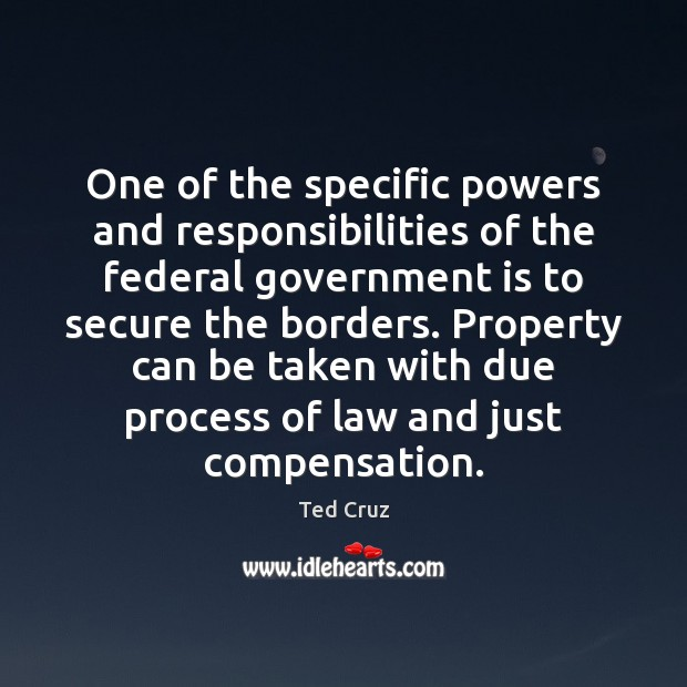 Image, One of the specific powers and responsibilities of the federal government is