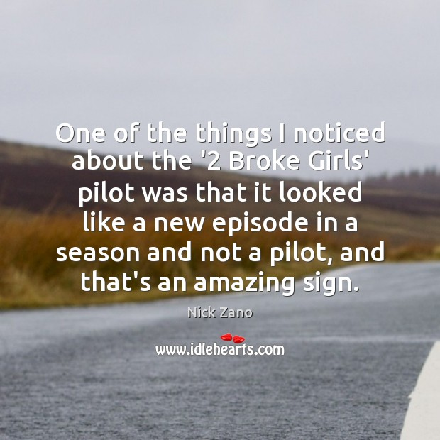 One of the things I noticed about the '2 Broke Girls' pilot Image