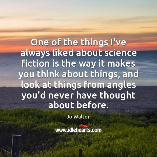 Image, One of the things I've always liked about science fiction is the