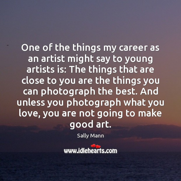 One of the things my career as an artist might say to Image