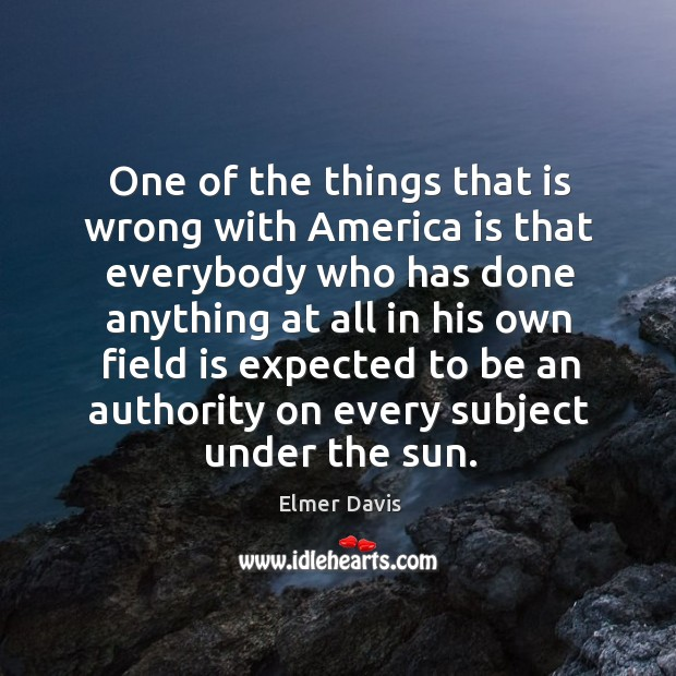 One of the things that is wrong with america is that everybody who has done anything Image