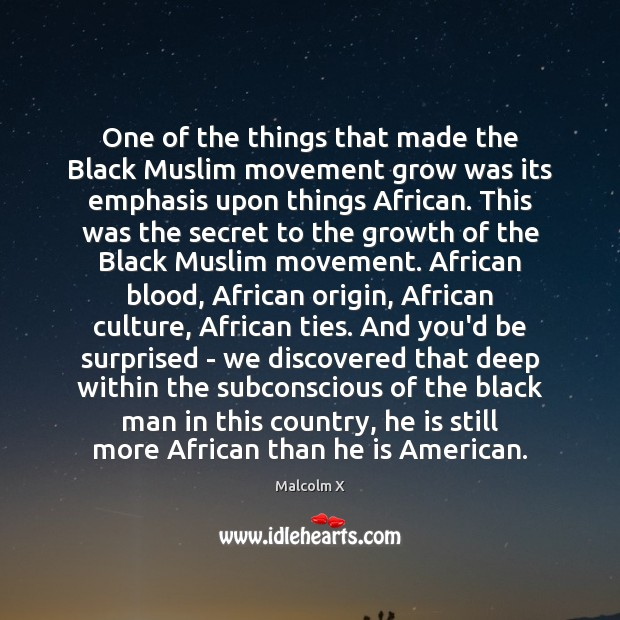 One of the things that made the Black Muslim movement grow was Malcolm X Picture Quote