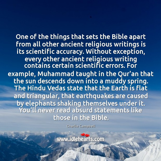 One of the things that sets the Bible apart from all other Image