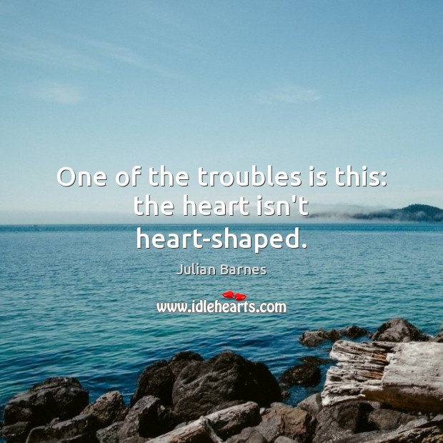 One of the troubles is this: the heart isn't heart-shaped. Image