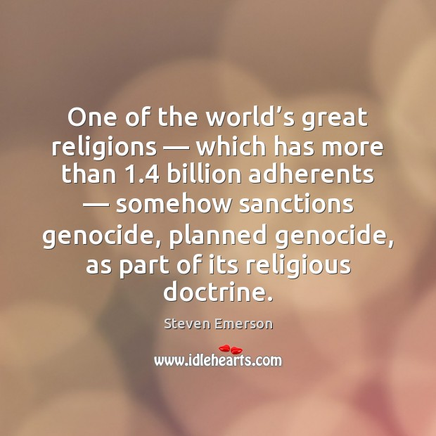 Image, One of the world's great religions — which has more than 1.4 billion