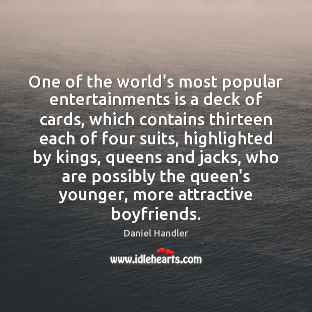 Image, One of the world's most popular entertainments is a deck of cards,