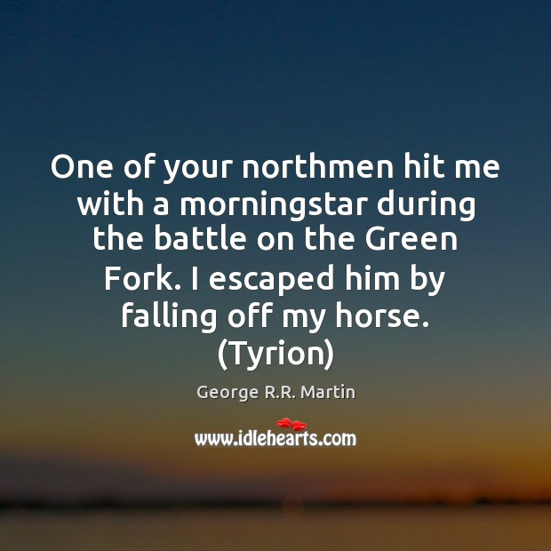 Image, One of your northmen hit me with a morningstar during the battle