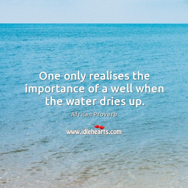 One only realises the importance of a well when the water dries up. Image