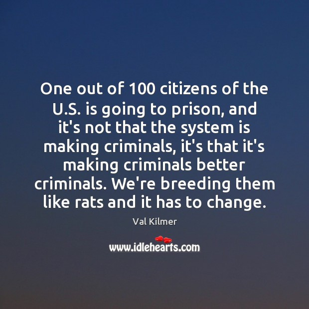 One out of 100 citizens of the U.S. is going to prison, Image