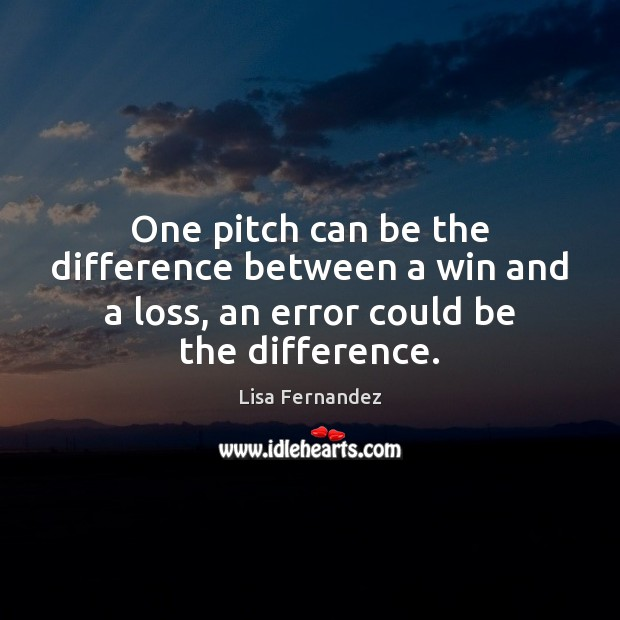 One pitch can be the difference between a win and a loss, Image