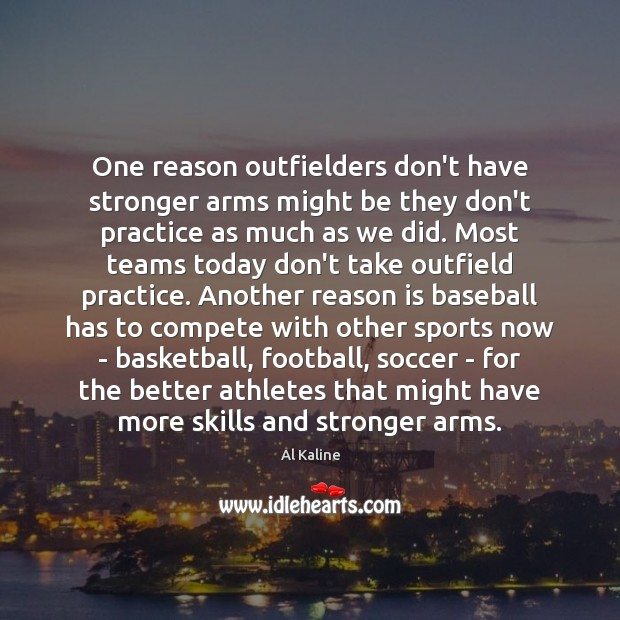 Image, One reason outfielders don't have stronger arms might be they don't practice