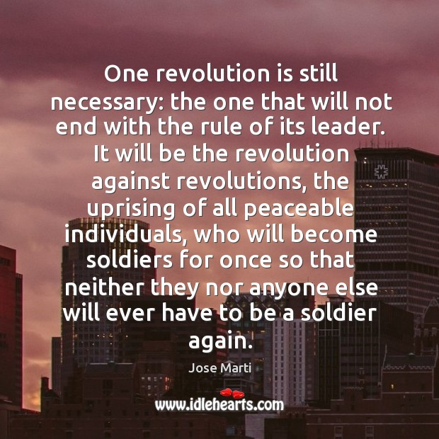 One revolution is still necessary: the one that will not end with Image