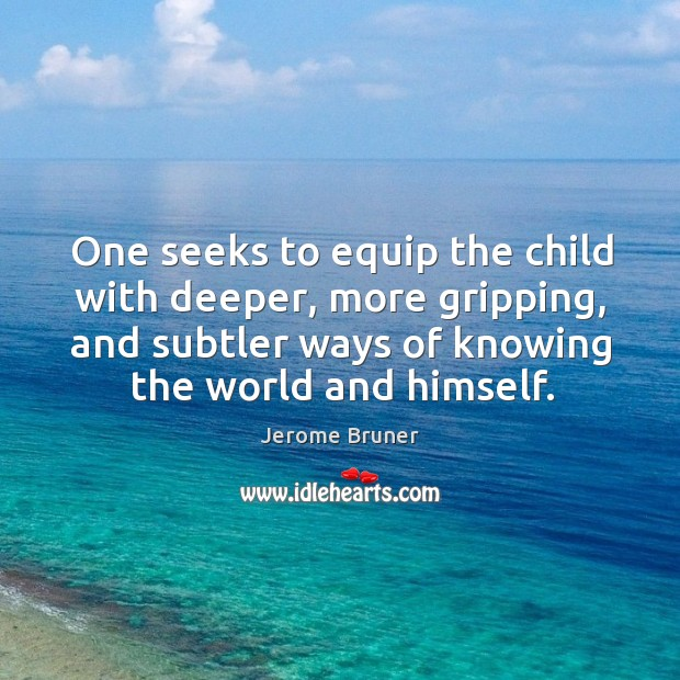Image, One seeks to equip the child with deeper, more gripping, and subtler ways of knowing the world and himself.