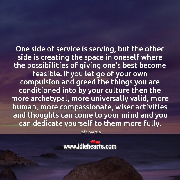One side of service is serving, but the other side is creating Image