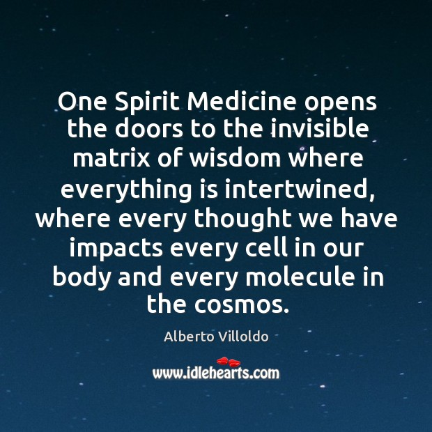 One Spirit Medicine opens the doors to the invisible matrix of wisdom Image