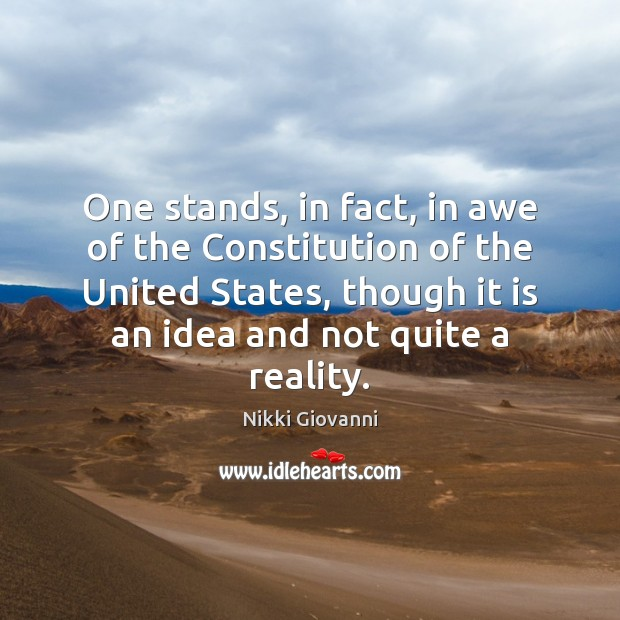 One stands, in fact, in awe of the Constitution of the United Image