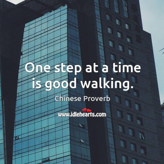 Image, One step at a time is good walking.